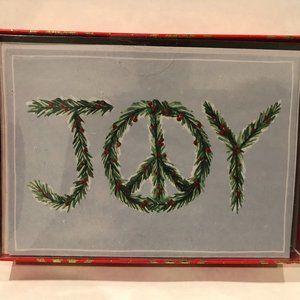 "Boxed Holiday Christmas Cards & Envelopes ""Joy"""